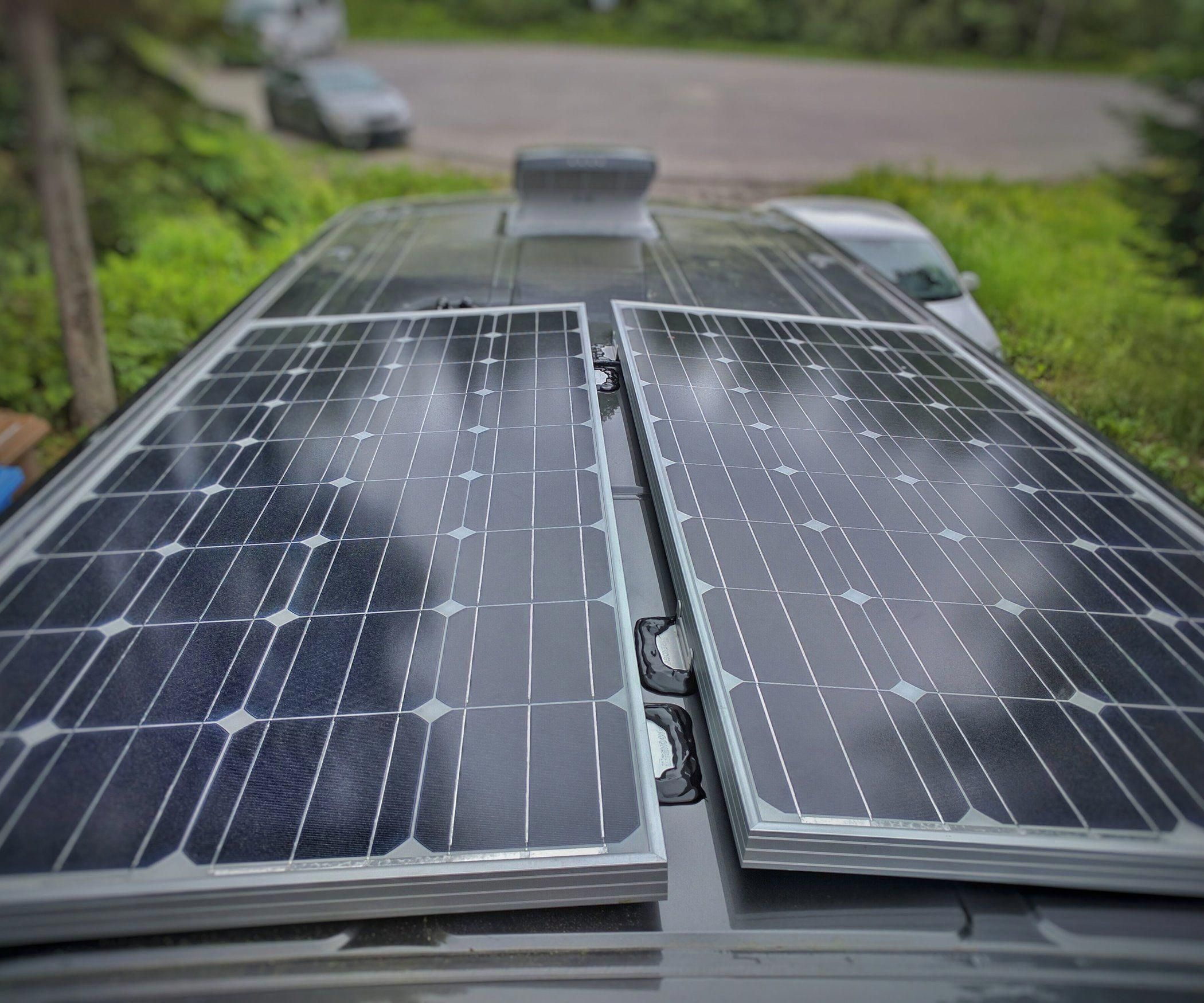 How To Install Solar Panel S On A Camper Van Conversion With Images Solar Panels Best Solar Panels Solar Panel Installation