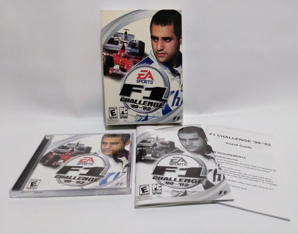 EA Sports F1 CHALLENGE 99 02 Auto Racing Career Video Game Big Box PC CD ROM ElectronicArts