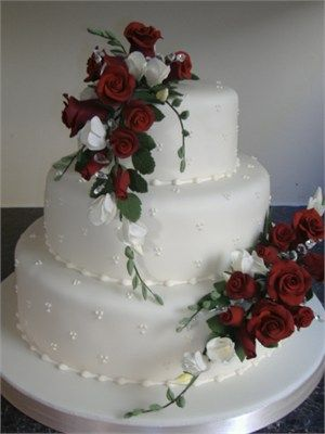More traditional and tastefully decorated with flowers