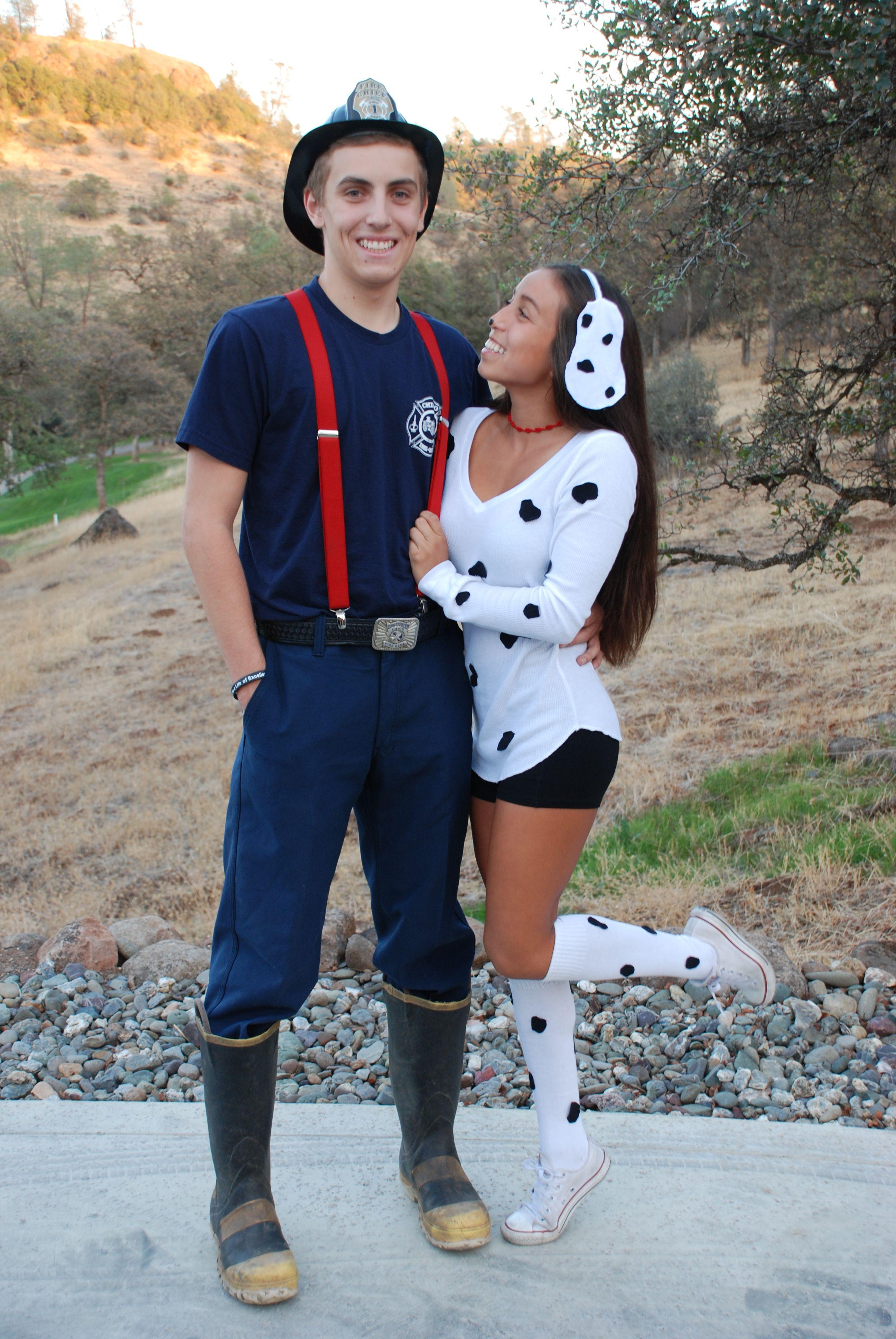 Fireman and Dalmatian costume Halloween More Cute couple
