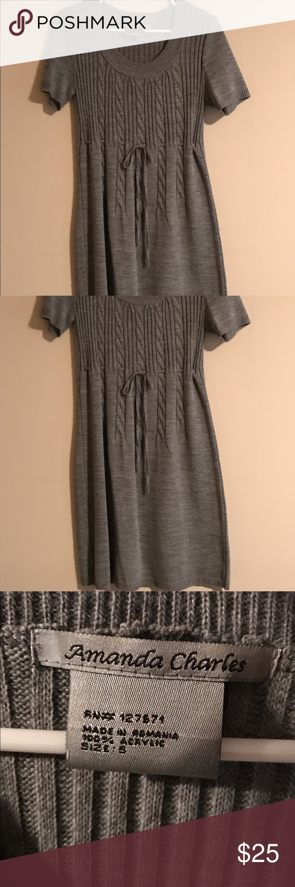 SWEATER DRESS- NEW CONDITION! CLOSET CLEANING!  All of my clothes are like new condition. I wash all of my clothes on gentle cycle in cold water and hang dry. The clothes that I have listed are not faded and some only need an iron. Amanda Charles Dresses