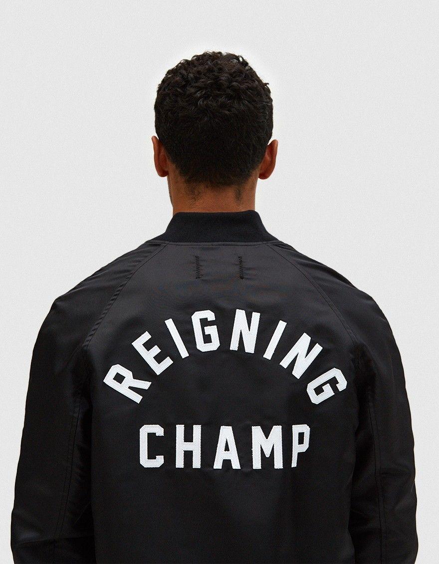 Reigning Champ Stadium Logo Jacket [ 1130 x 880 Pixel ]