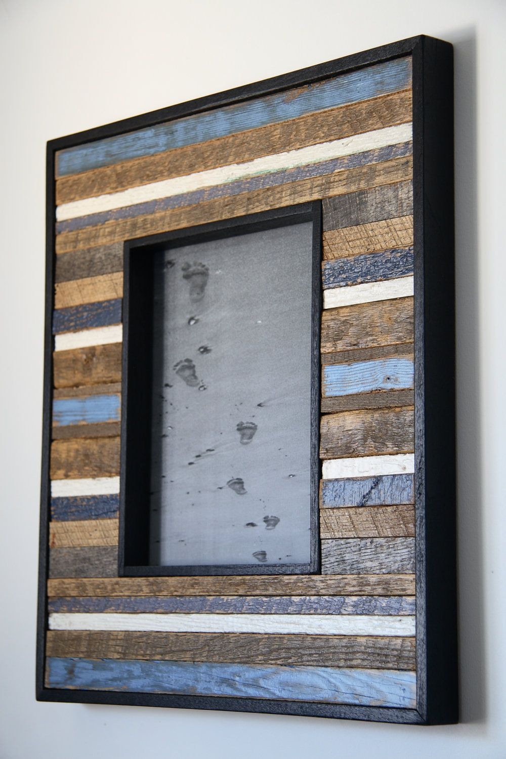 8x10 reclaimed wood picture frame via etsy