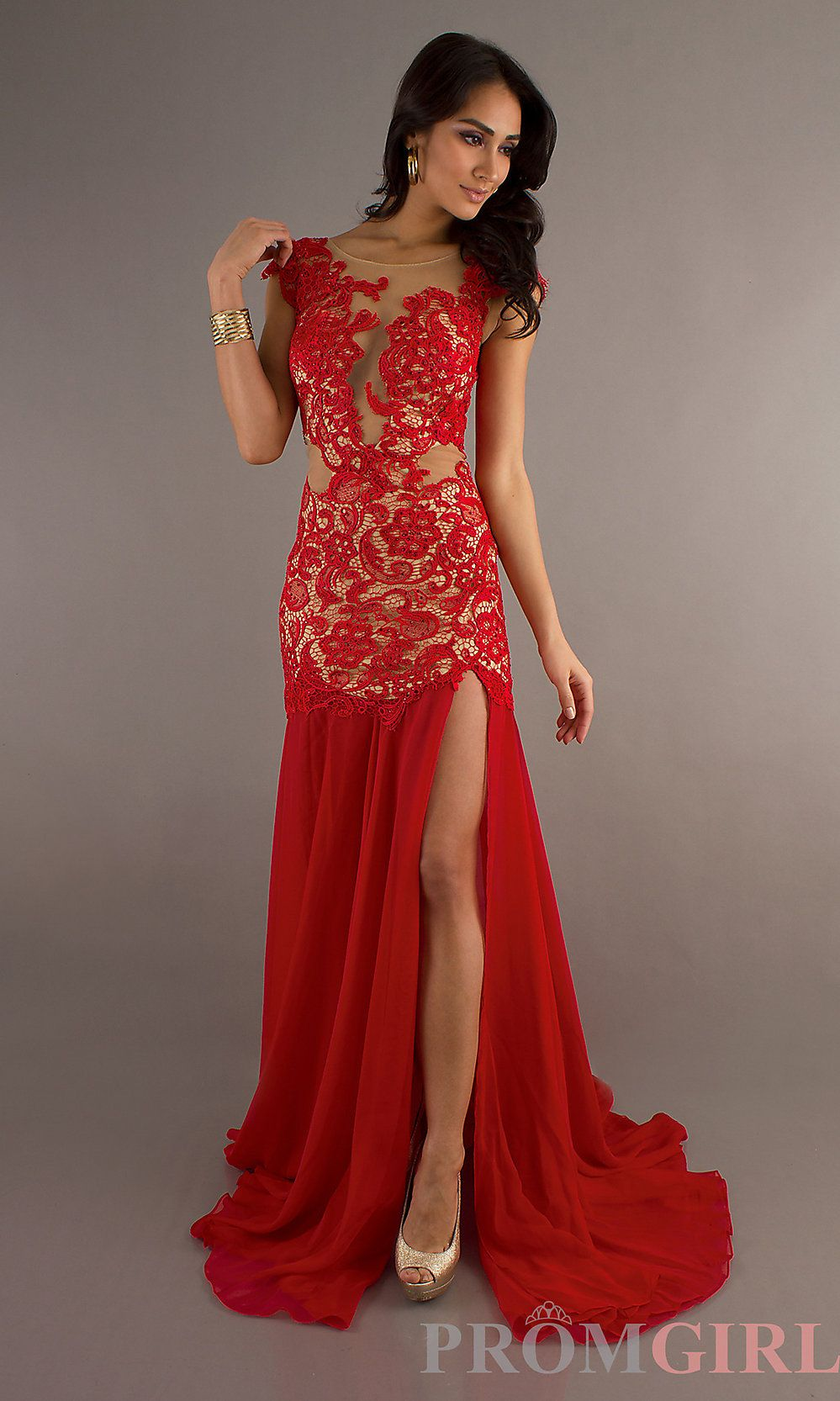 Sexy Evening Gown, Cassandra Stone Prom Red Long Dress- PromGirl ...