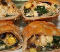 baked southwestern egg rolls with easy to find corn tortillas