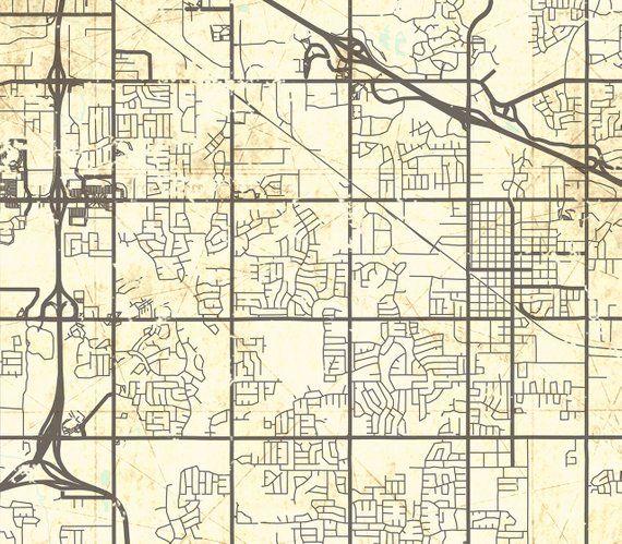 BROKEN ARROW OK Canvas print Oklahoma Vintage map Town City Ok City ...