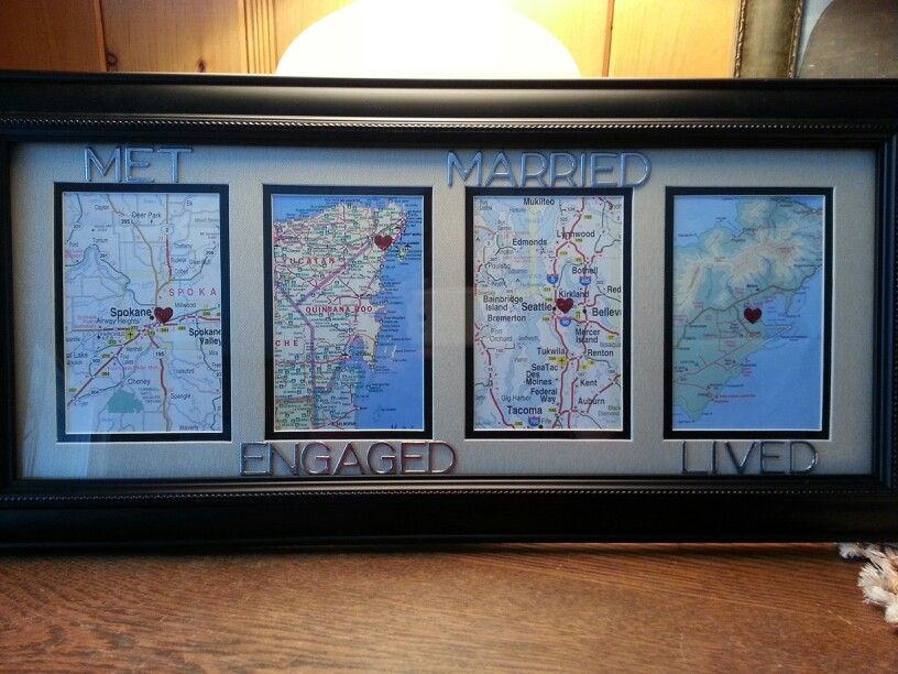 5 Year Anniversary Gift To Joey More GiftWedding AnniversaryMap DecorationsFramed