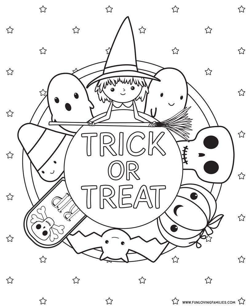 Cute Halloween Coloring Pages For Kids To Print At Home Click
