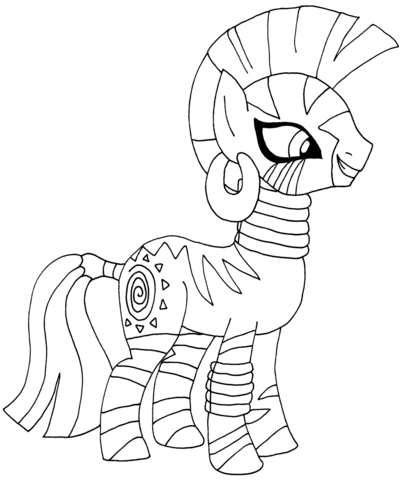 My Little Pony Zecora Coloring page | Coloring | Pinterest