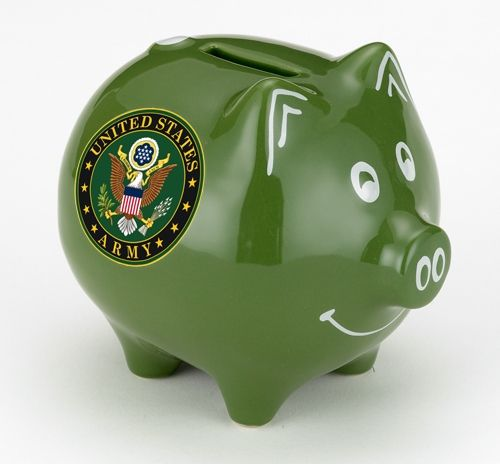 Make More Cents Presents Our United States Army Piggy Bank High