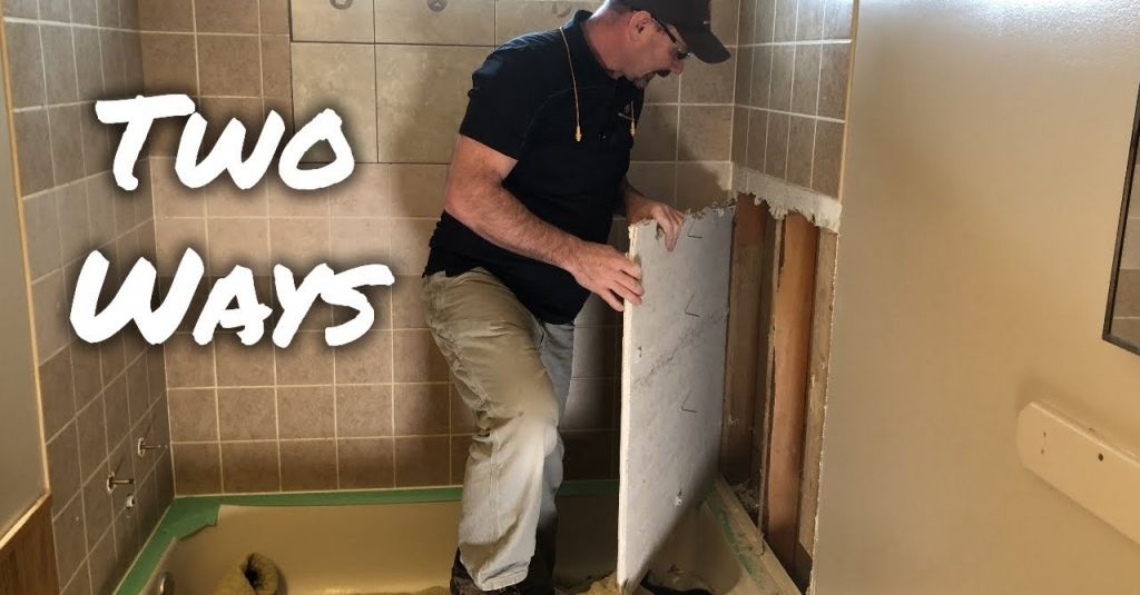 How To Remove Bathtub Shower Wall Tiles Bathroom Shower Reno Renovate Renovation Tile Bathtub Bath Tub Remove Bathtub Shower Wall Tile Shower Wall