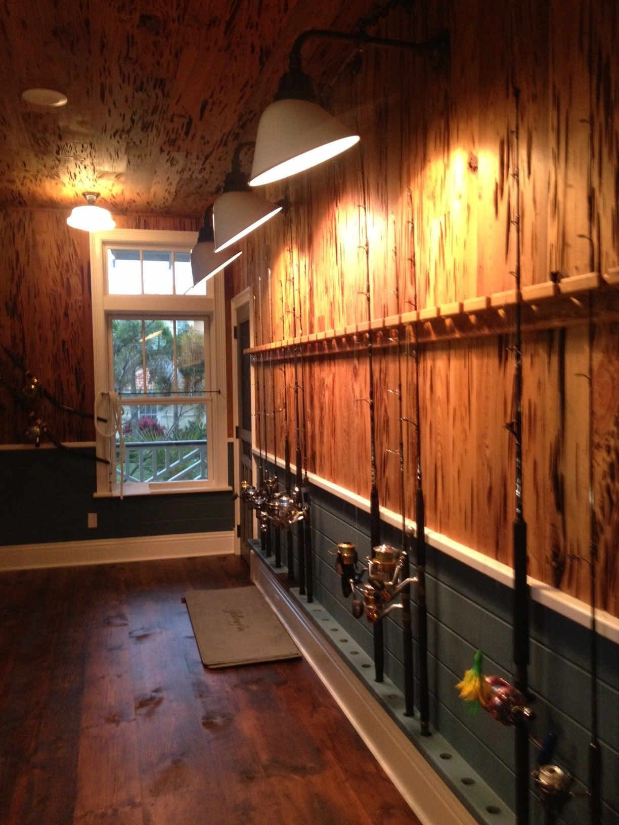 That S Some Sweet Way To Store Fishing Rods Fishing In