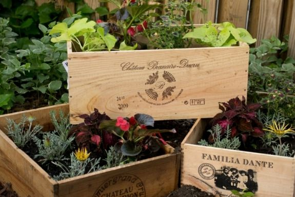 Ideas creativas manualidades y decoración del jardín cajones - ideas creativas y manualidades