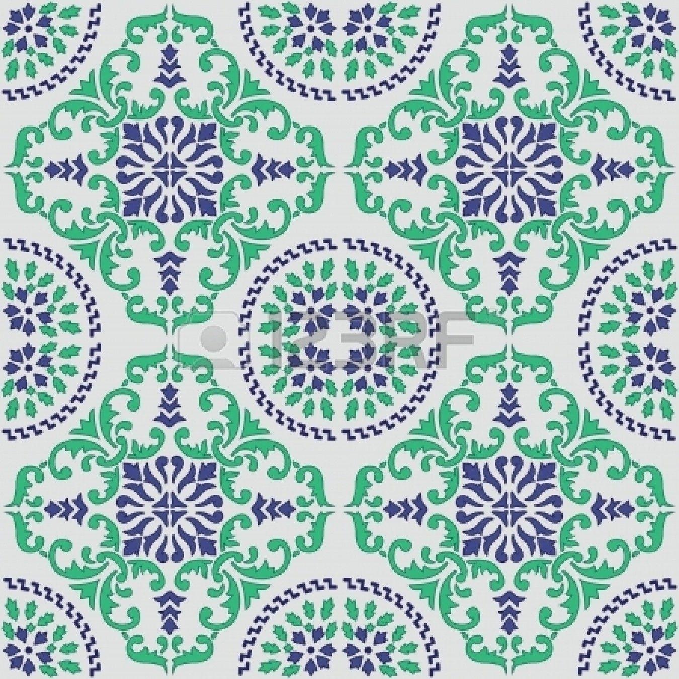 Nahtlose Vektor Muster Von Original Sizilianische Fliesen Gemacht Stockfoto    21844972