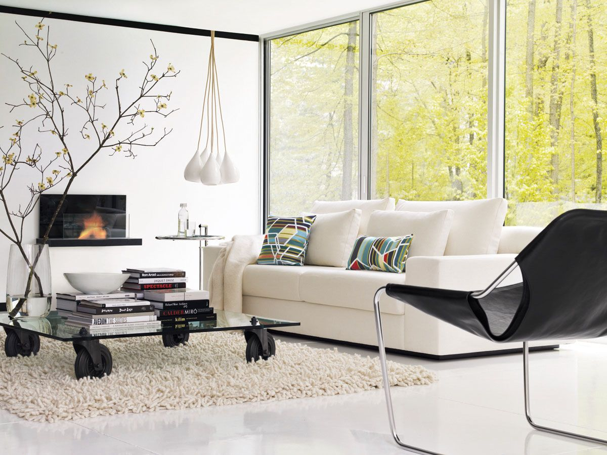 Simpatico Sofa shown with Tavolo Con Ruote and Paulistano Chair