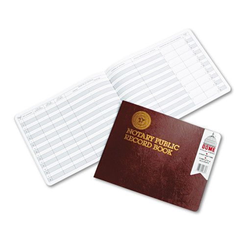 Notary Public Record, Burgundy Cover, 60 Pages, 8 1/2 X 10