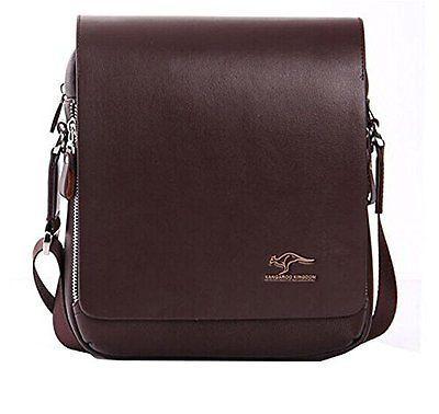 Econoled Men's Genuine Leather/pu Authentic Kangaroo Kingdom Shoulder Bag New