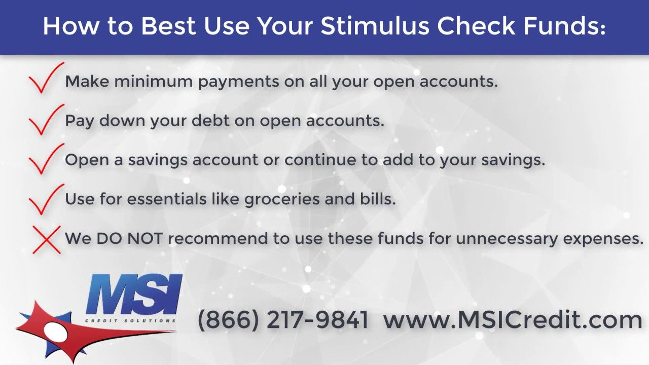 How to best use your stimulus check funds in 2020 credit