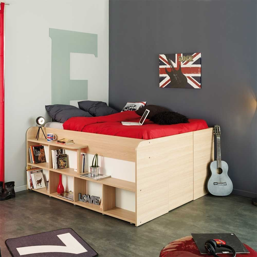 Studenten Bett Hedda In Eiche Weiss Mit Stauraum 140x200 Cm 02 Jpg Schrankbett Bett Lagerung Bett Ideen