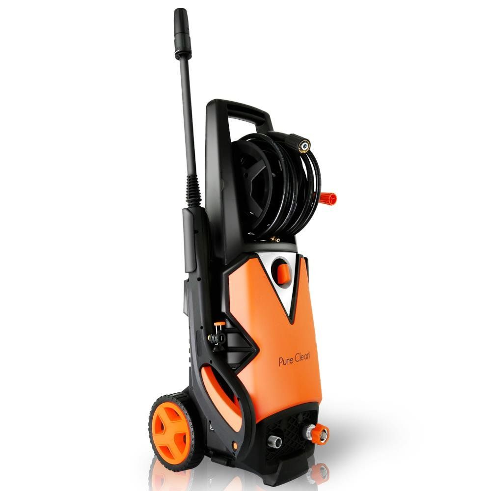 Serenelife Electric Pressure Washer Powerful Heavy Duty 2000psi Manual Adjustable High Low Cleaning Concrete Driveway Clean Concrete Electric Pressure Washer