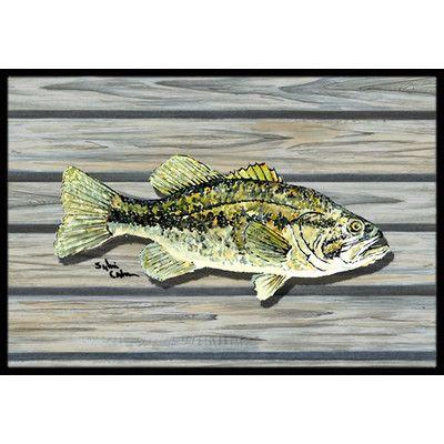 Caroline's Treasures Fish Bass Small Mouth Doormat Rug Size: