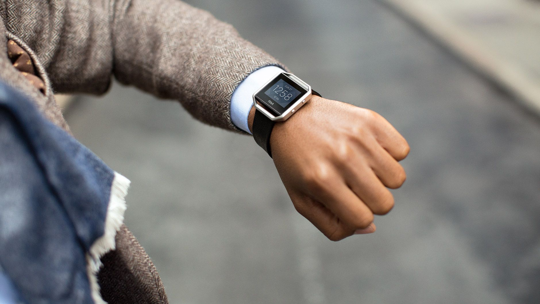 Fitbit Blaze Leather Band - Black