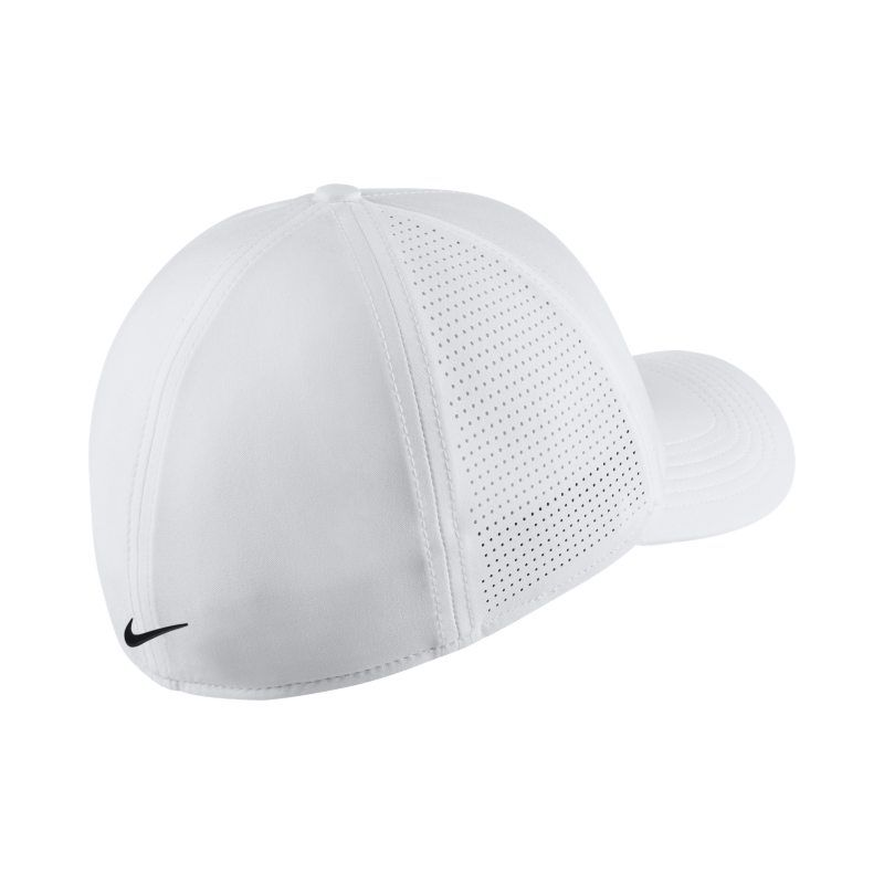 Nike AeroBill Classic 99 Fitted Golf Hat - White  473e8a24110f