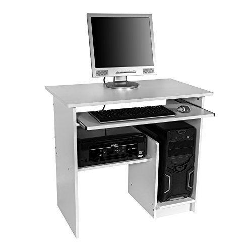 Tectake Bureau Informatique Table De Travail Diverses Couleurs Au Choix Noir Computadora