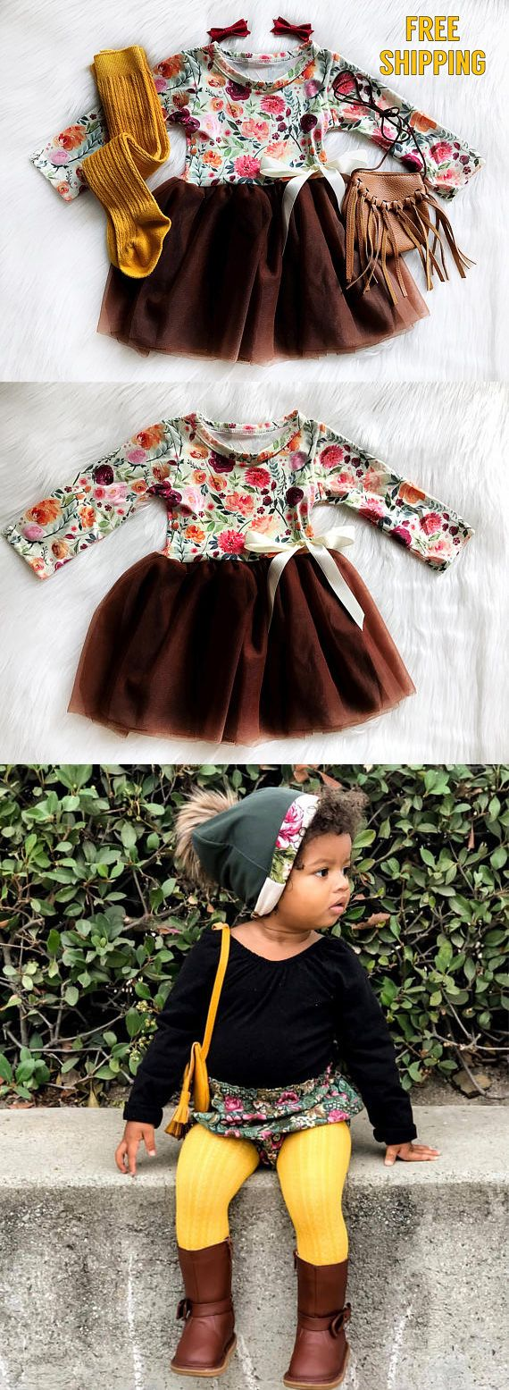 6b672e0ac Girls Fall Dress Baby Girls Thanksgiving Dress Fall Birthday Dress ...