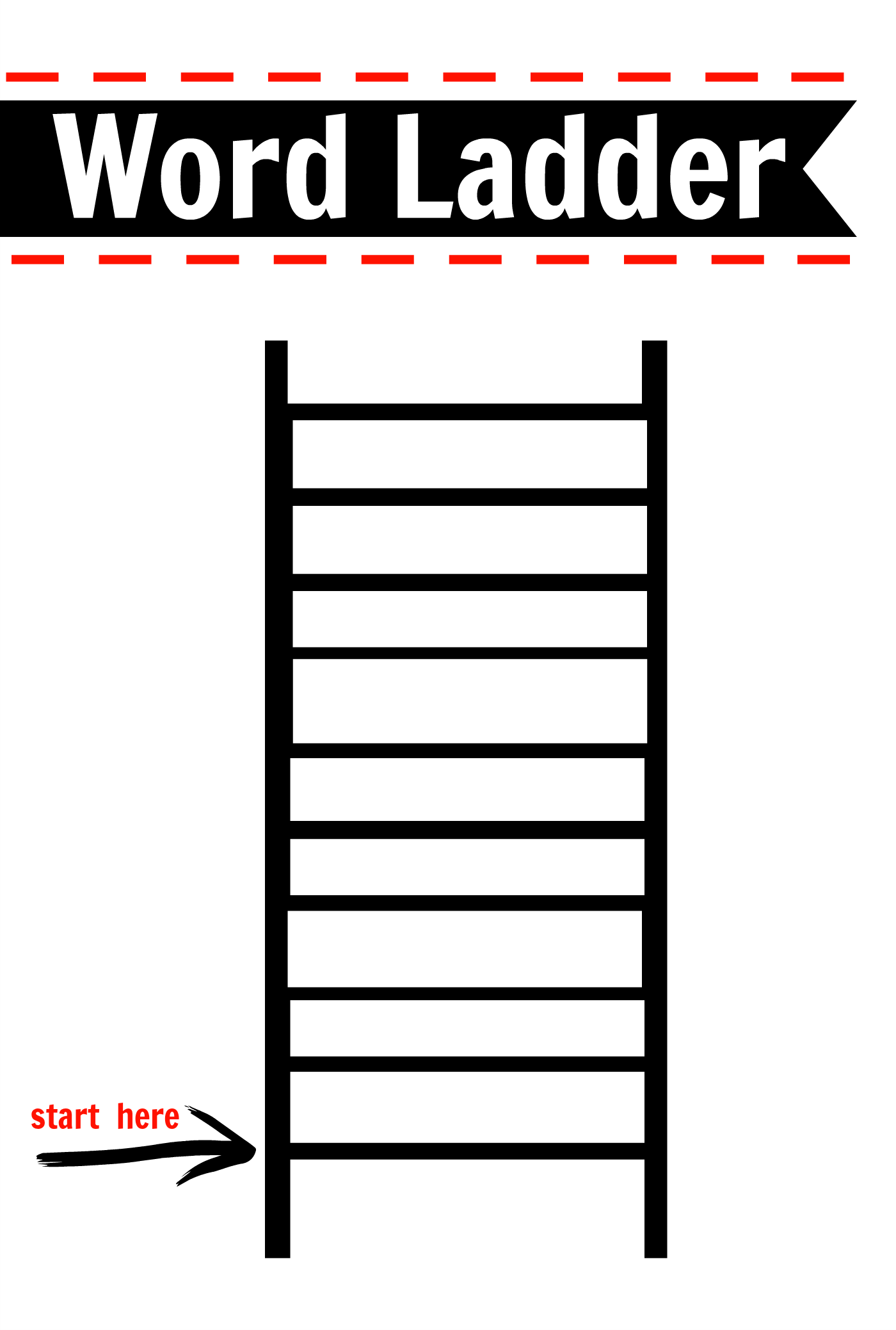 after school activity word ladders printable free - Activity Printables
