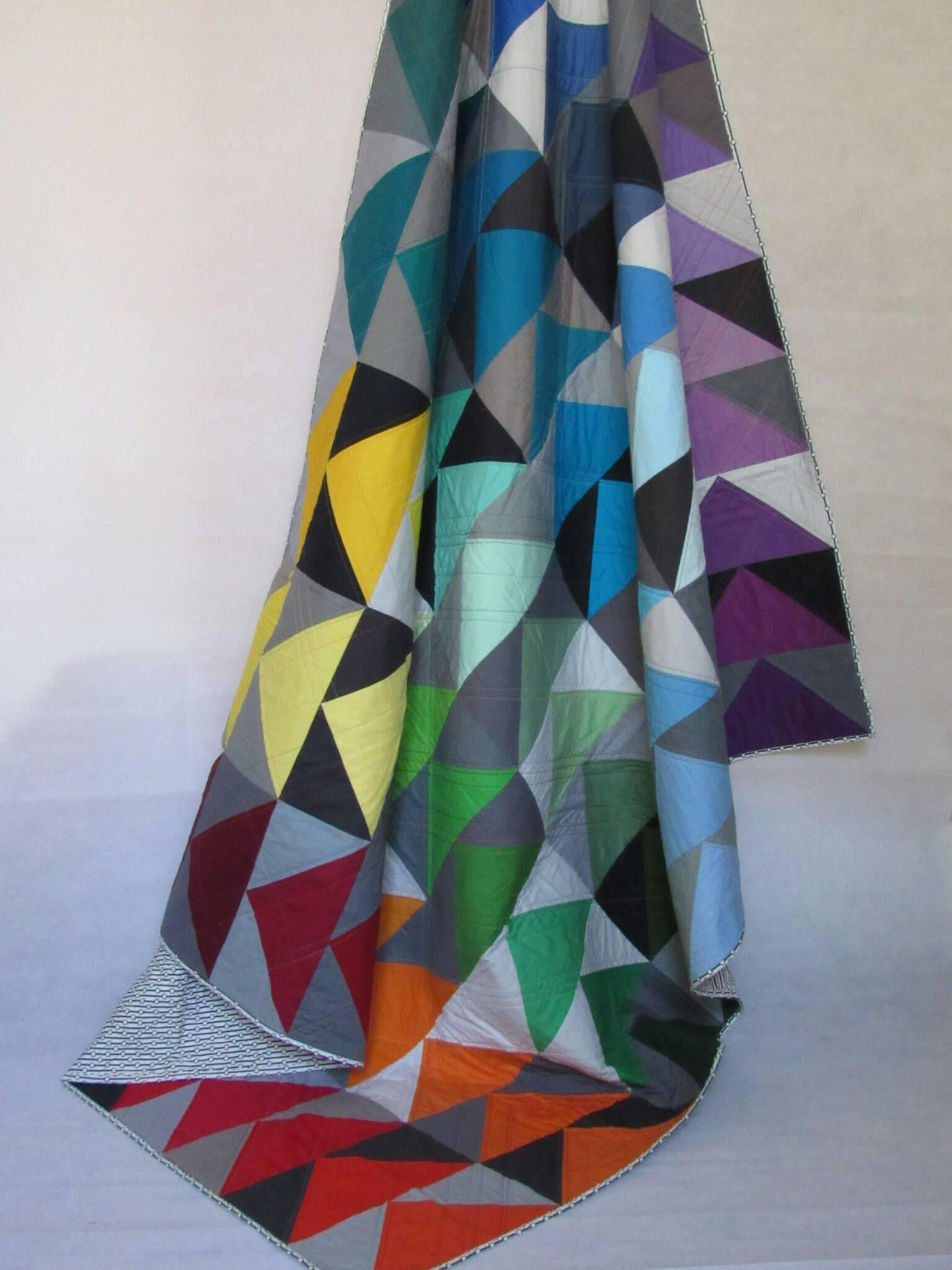 Flying geese quilt by HandmadeinSE20 on Etsy Flying