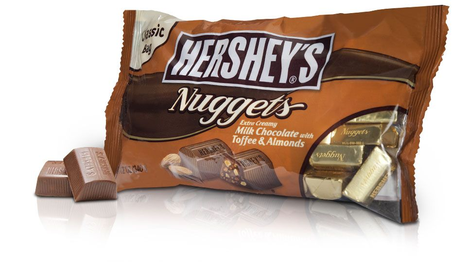 Hershey S Nuggets Milk Chocolate With Toffee And Almonds Are Thick
