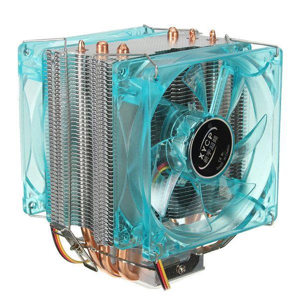 Xycp Dual Fan Quiet Cpu Cooler Heat Sink For Intel Lga1155 1156