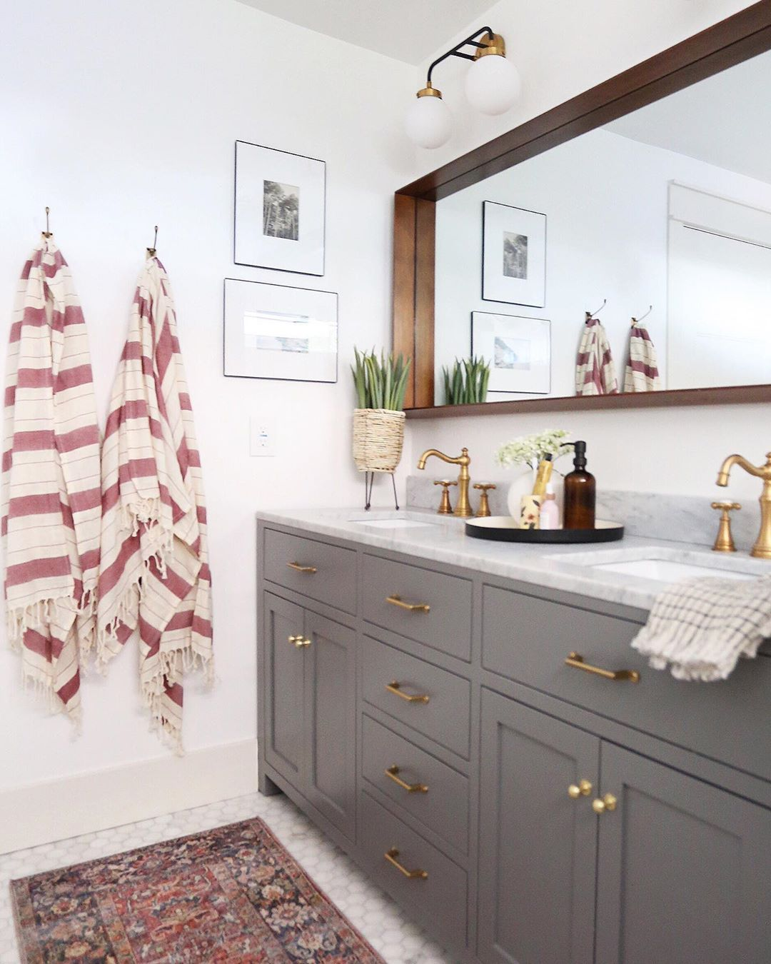 Juniper Home On Instagram The Master Bathroom Of The Evergreen Project Was One Of Our Favorite Transformations Juniper Home Master Bathroom Bathroom Sconces