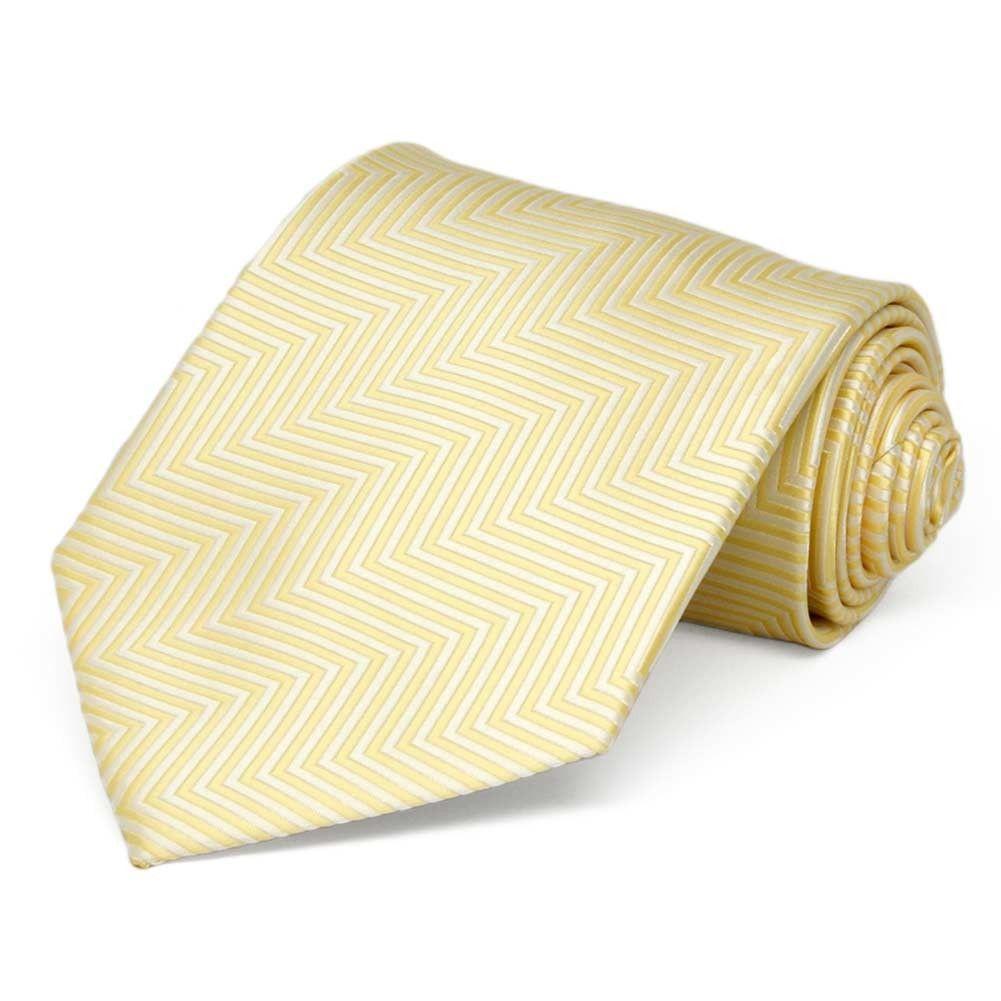 TieMart Daffodil Yellow Self-Tie Bow Tie