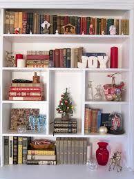 How To Decorate Bookshelf For Christmas Google Search Decorating Bookshelves Decor Christmas Decorations
