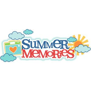 Silhouette Design Store Summer Memories Title Summer Memories Cute Clipart Summer Sticker