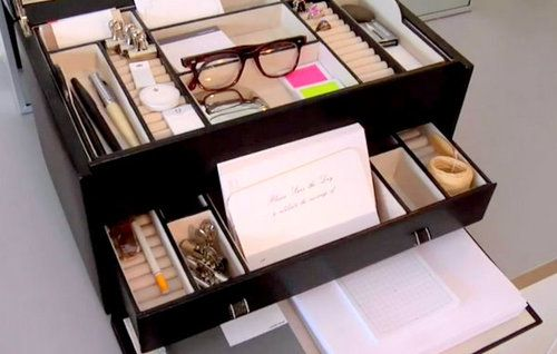Jewelry Box as Office Supplies Organizer Salvage and Repurpose