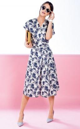 1d64fb83ef3 Платье с запахом и цельнокроеными рукавами - выкройка № 127 B из ...