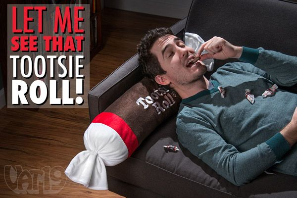 Tootsie Roll Plush Pillow Take My Paycheck Shut Up And Take My Money The Coolest Gadgets Electronics Geeky Stuff And More Candy Pillows Leather Projects Sewing Leather