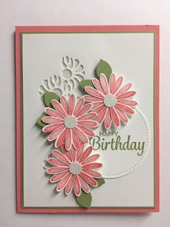 Here's a Card, Daisy Lane, Tasteful Backgrounds, Birthday Card, 2019-2020 Stampin' Up! Catalog