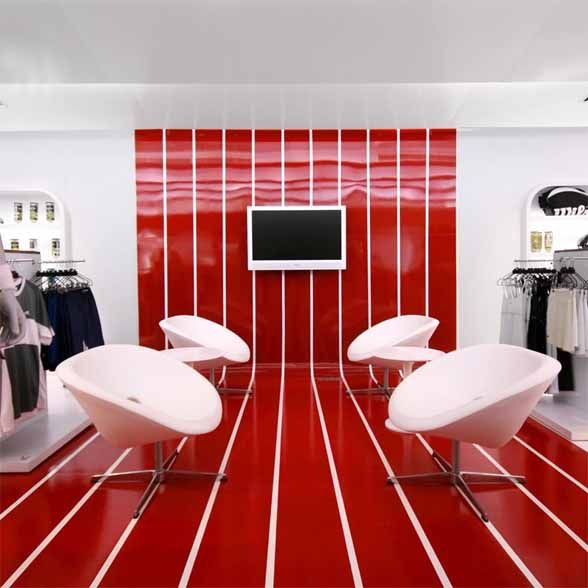 image detail for -red and white interior design centauro concept
