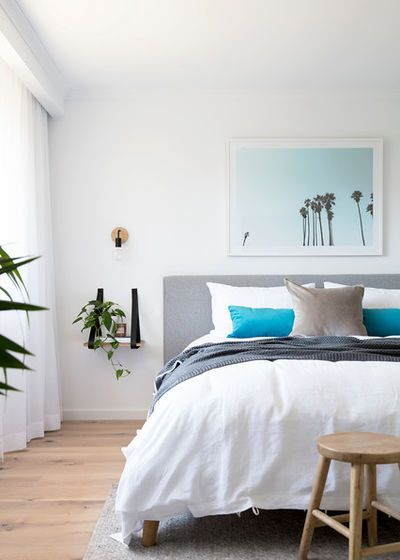 Beach Style Bedroom by The Design Villa | In and out | Pinterest ...