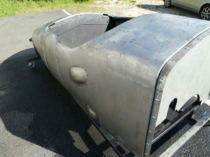 Bentley bodyshell prior to painting outdoor decor decor