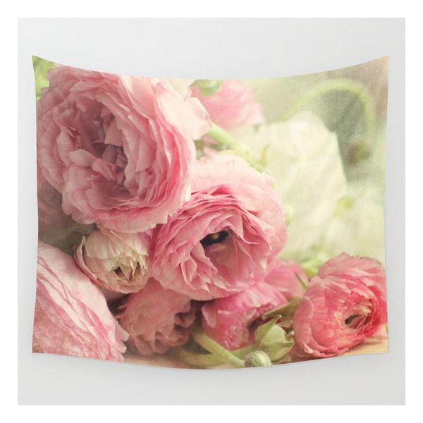 The First Bouquet Wall Tapestry ($39) ❤ liked on Polyvore featuring home, home decor, wall art, wall tapestries, tapestry wall art, outside wall art, outdoor home decor and home wall decor