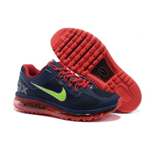 Only Need $80.99 Plus Free Shipping, Nike Air Max 2013 Mesh Black Red Green  Mens