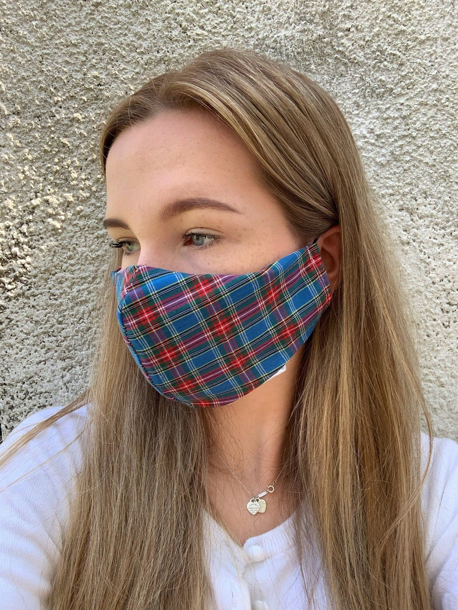 Photo of Tartan Face Mask | Triple Layer Face Mask | Washable Face Mask | Adult Fitted Face Mask | Reusable Protective Mask | Cotton Fabric Mask
