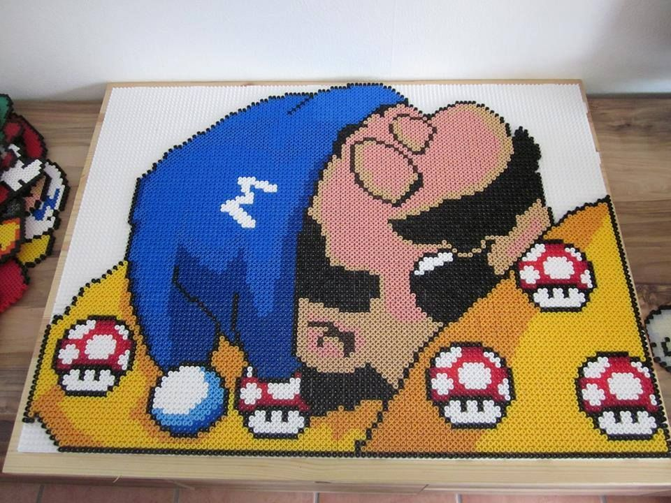 sleeping mario aus b gelperlen hama perler beads this is. Black Bedroom Furniture Sets. Home Design Ideas
