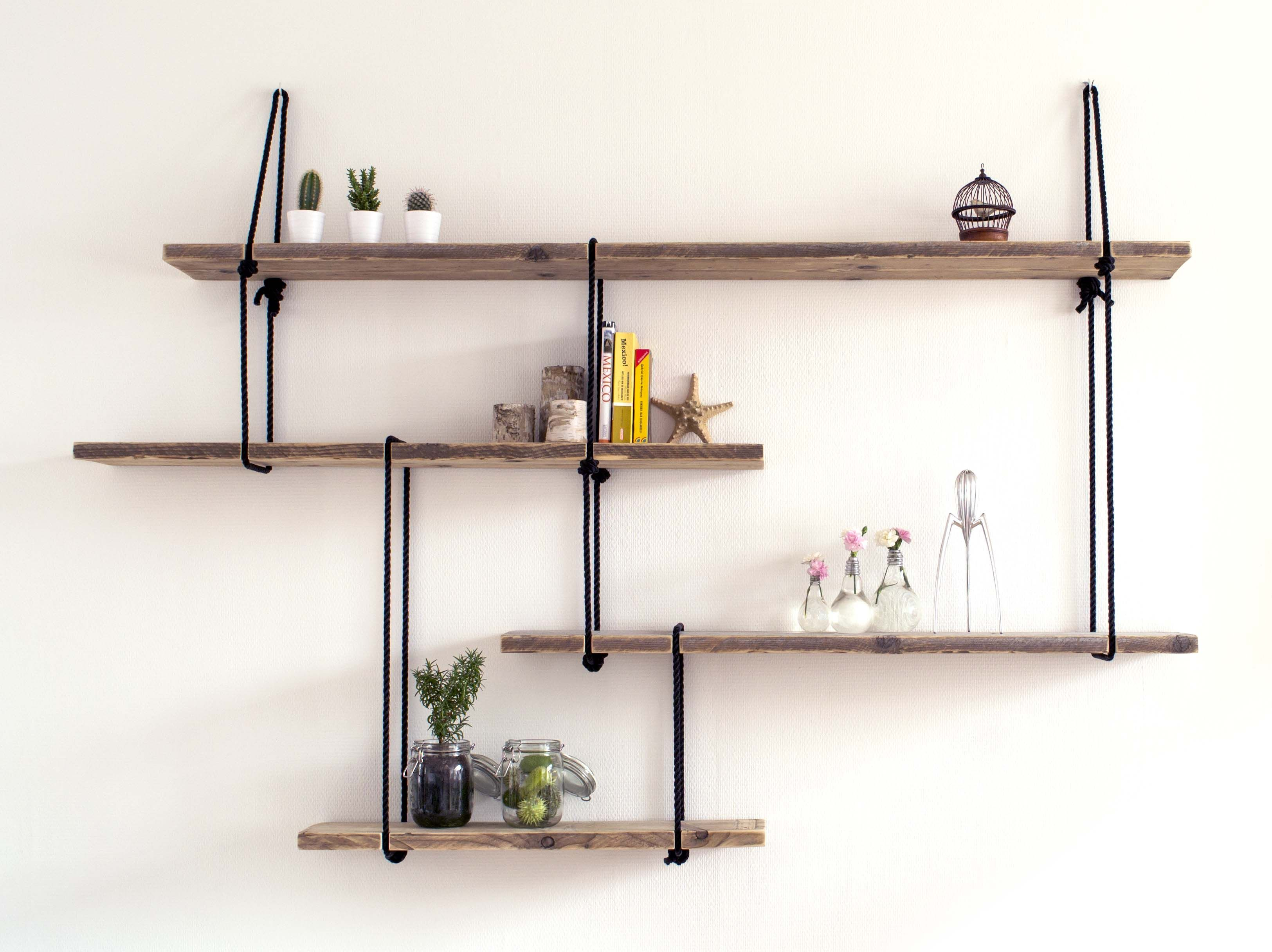 Decorative Shelves For Walls rope installation'luuk van vliet | decorative shelves made out