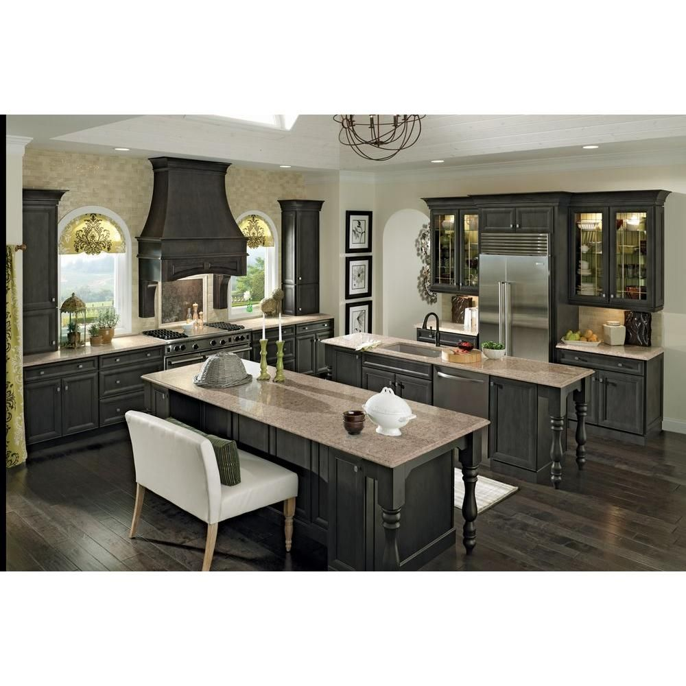 Home Depot Kraftmaid White And Gray Kitchen | My New Home | Pinterest |  Gray Kitchens And Kitchens